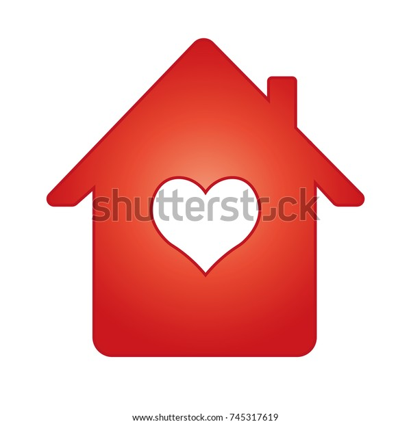 Groovy House Heart Stock Vector Royalty Free 745317619 Home Remodeling Inspirations Genioncuboardxyz