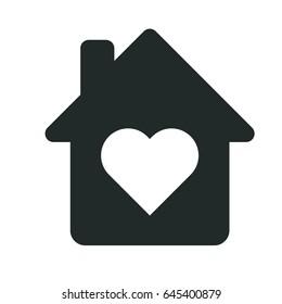 house heart icon