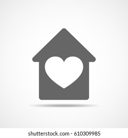 Fine Heart House Images Stock Photos Vectors Shutterstock Home Remodeling Inspirations Genioncuboardxyz