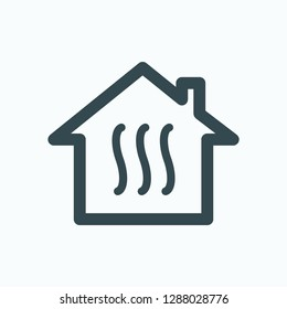 House heating icon, home heating system vector icon