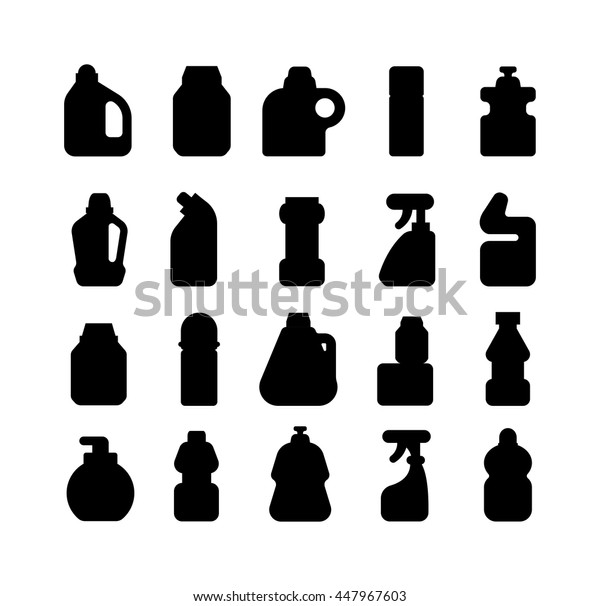 House hold bottle template and container bottle pack design bottle template