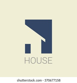 House home real estate logo  icon design template element