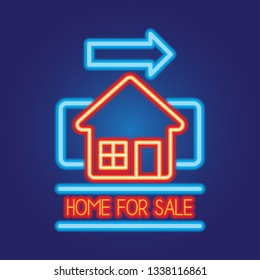 house home for sale neon sign for house for sale plank