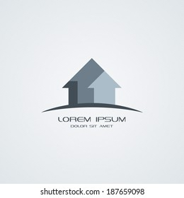 House icon. Building logo design collection.