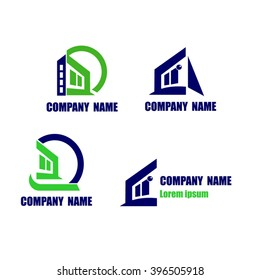 House icon. Construction and Real state company logo elements
