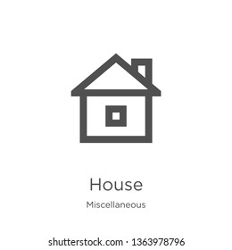 house icon. Element of miscellaneous collection for mobile concept and web apps icon. Outline, thin line house icon for website design and mobile, app development
