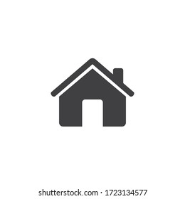 House Icon. home symbol isolated on white background. Vector Illustration.