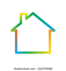 House icon isolated. Colorful vector Home icon. Abstract sign of building
