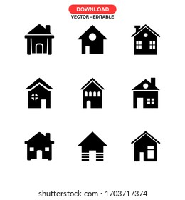 house icon or logo isolated sign symbol vector illustration - Collection of high quality black style vector icons