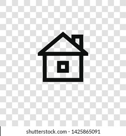 house icon from miscellaneous collection for mobile concept and web apps icon. Transparent outline, thin line house icon for website design and mobile, app development