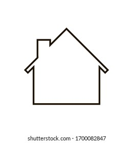House Icon on white background. Trendy flat style for graphic design, web-site. EPS 10.