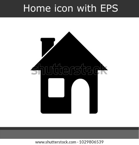 970259e49463 House Icon On White Background Stock Vector (Royalty Free ...