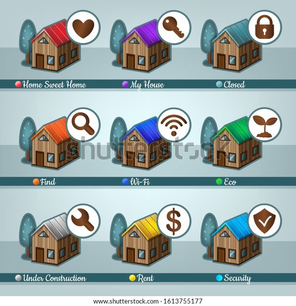 House icon set 2. Vector illustration