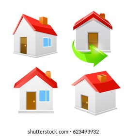 House icon set. Vector
