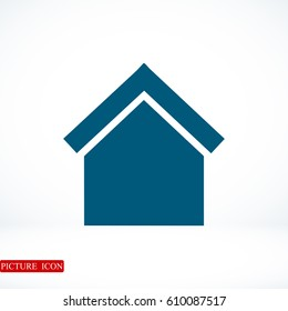 house icon, vector best flat icon, EPS