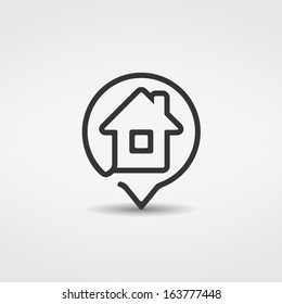 House icon, vector eps10 illustration
