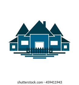 House Icon Vector Illustration.  House Icon Vector.  House Icon Illustration. House Icon  in blue colour. House Icon picture.