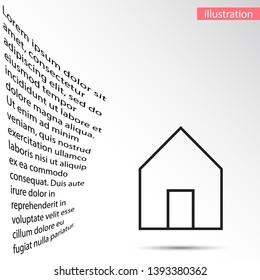 house icon vector . Lorem Ipsum Illustration design