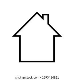 House icon Vector simple flat logo symbol