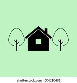 House icon, village vector illustration