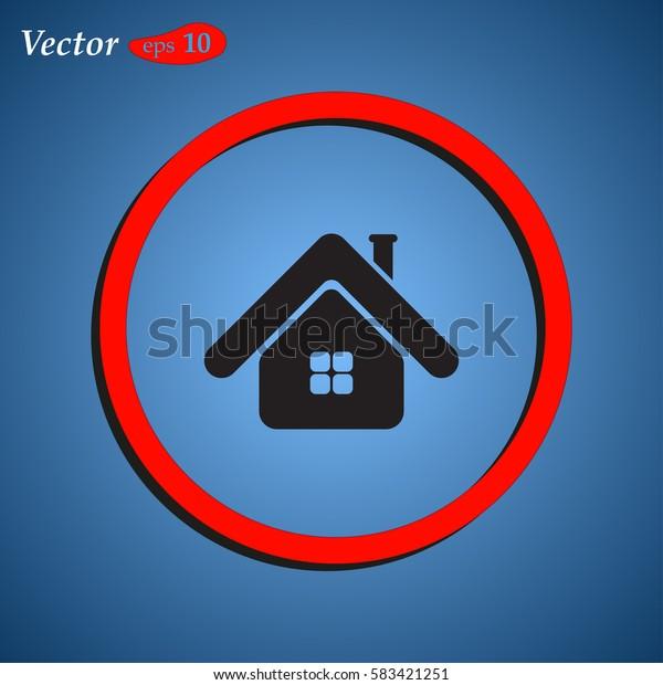 House Icon. web design style