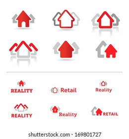 House icons. Retail and reality concept. Real estate.