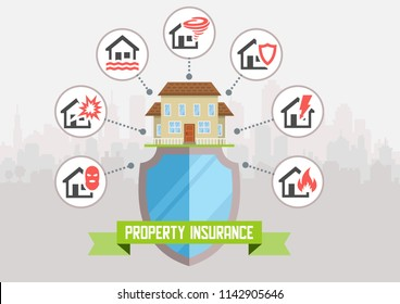 House insurance business service template. Vector illustration. Can be used for workflow layout, banner, diagram, number options, web design, timeline, infographics.