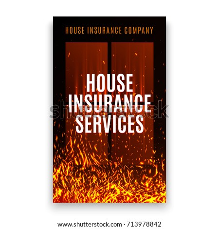insurance company after disaster flyer template  House Insurance Company Cover Template Fire Stock Vector (Royalty ...