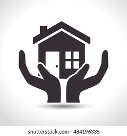 house insurance house hand protection design