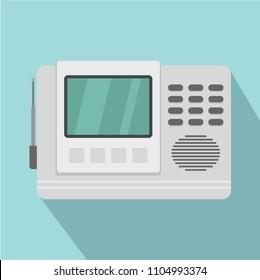 House intercom icon. Flat illustration of house intercom vector icon for web design