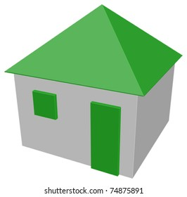 House isolated - vector