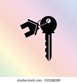 house key  - black vector icon