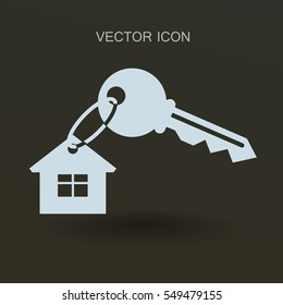 House key icon vector illustration
