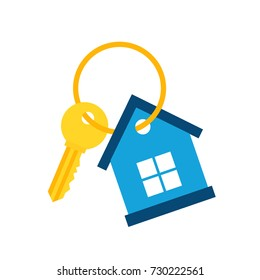 House Key Icon. Vector Illustration. Real Estate Icon.