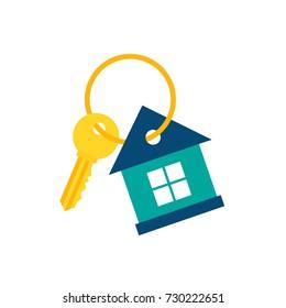 House Key Icon. Vector Illustration. Real Estate Icon.
