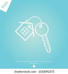 house key line icon