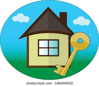 house with key for sale