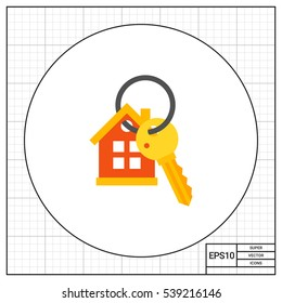 House Keyring and Key Icon