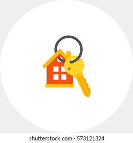 House Keyring and Key Icon