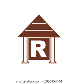 House With Letter R Logo