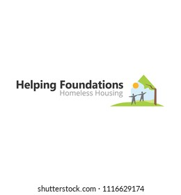 house as like haven in this helping based foundation company logo template