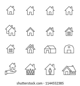 house line icon set vector illustration