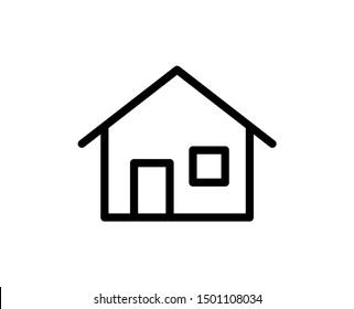 House line icon. Vector symbol in trendy flat style on white background. Web sing for design.