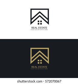 house logo design in creative line style
