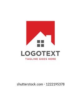 House logo design. Roof top icon for property or developer logo