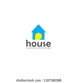 house logo minimalis for your brand or slogan. building, house, real estate vector symbol business.