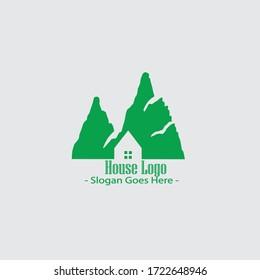 House logo Nature modern logo template vektor