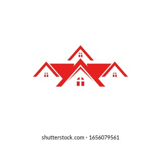 House logo real estate vector icon