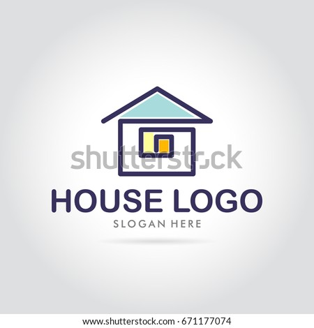 House Logo Simple Minimalist Modern Vector Stock Vector Royalty