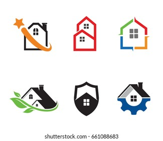 House Logo Template Design Vector, Emblem, Design Concept, Creative Symbol, Icon